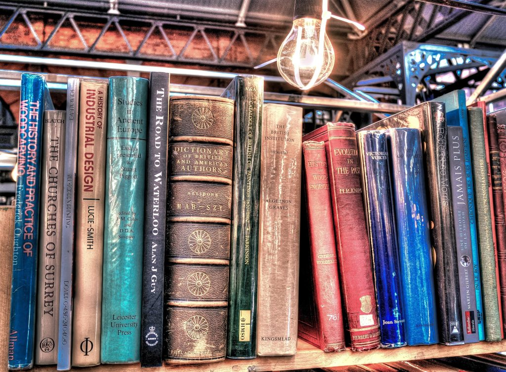 ontario-aged-antique-book-stack-toronto-flea-market